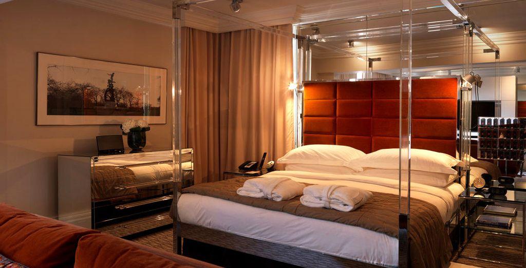 Pero cada habitación se define por un estilo de vida lujoso (imagen: Suite Mayfair)