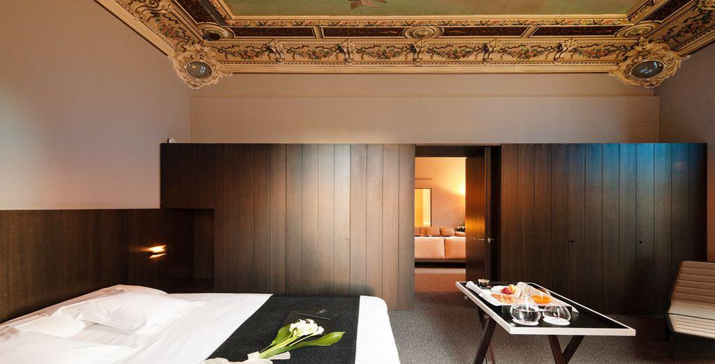 Una suite amplia y elegante