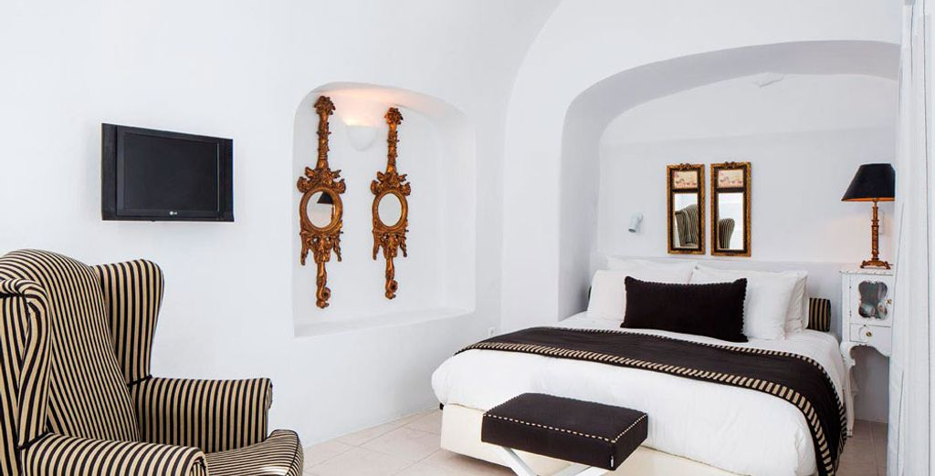 La espaciosa Suite Luna de Miel es ideal para una escapada romántica