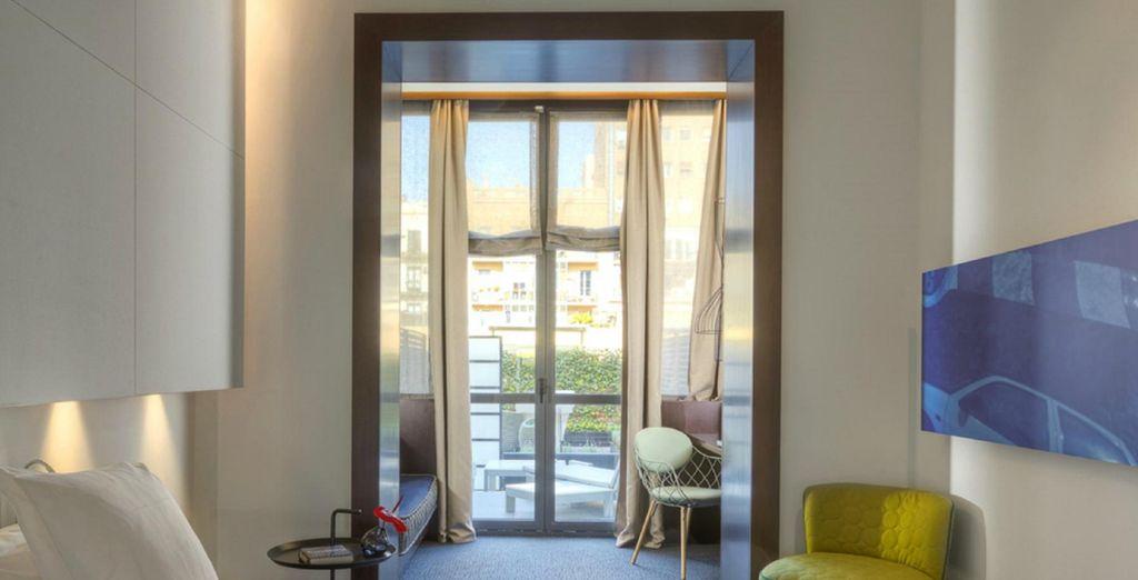 Para que te dirijas a tu luminosa y fresca habitación (imagen: Habitación doble deluxe)