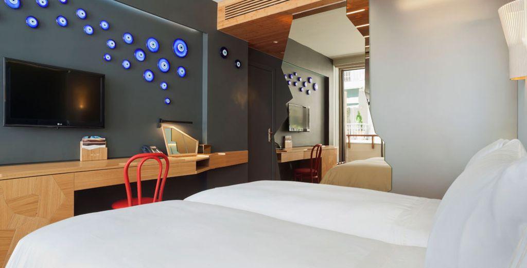 O la habitación Superior, con su encanto contemporáneo