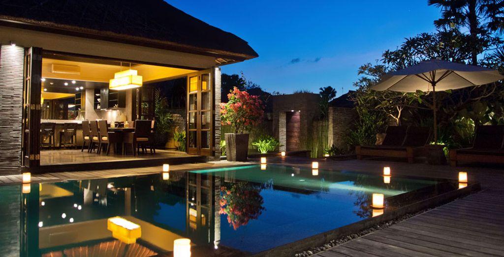 Para tener todavía más lujo, regálate la villa presidencial con piscina y 3 habitaciones...