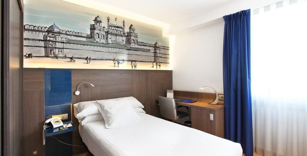 Si viajas solo, puedes alojarte en una habitación de Doble Uso Individual