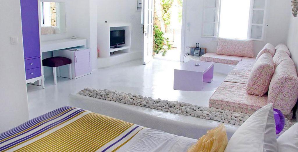 Si prefieres una habitación más amplia, te recomendamos la Suite de un dormitorio