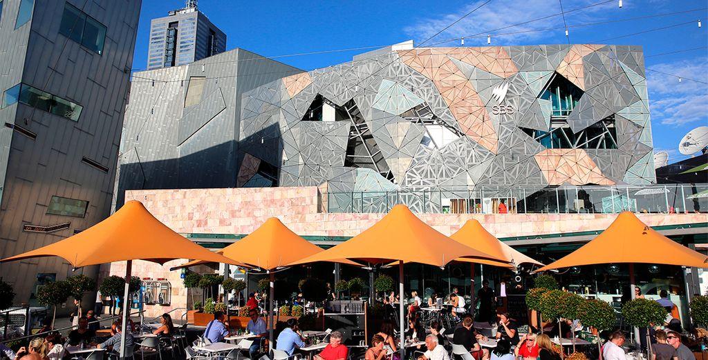 La plaza de la Federación en el corazón de Melbourne