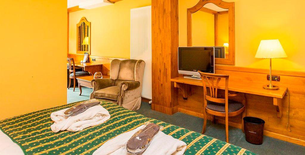 O en una Junior Suite también con fabulosas vistas
