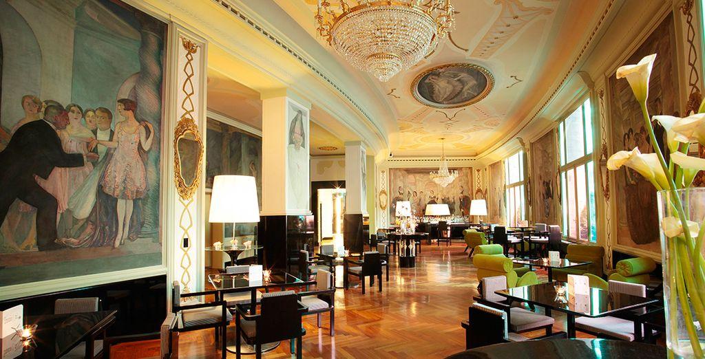 Diseño italiano refinado y el estilo art deco contemporáneo en Via Veneto