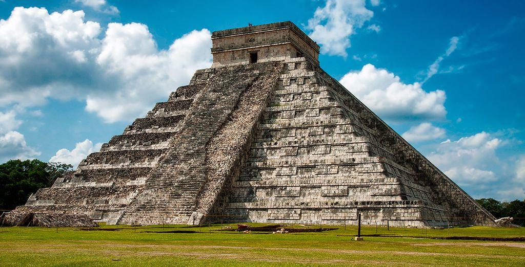 Riviera Maya,, conocida también por las pirámiders de Chichen Itzá