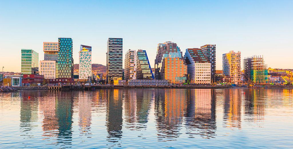 A tu llegada visitarás Oslo y conocerás todos sus encantos