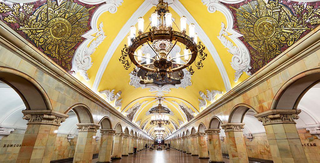 El hermoso metro de Moscú...