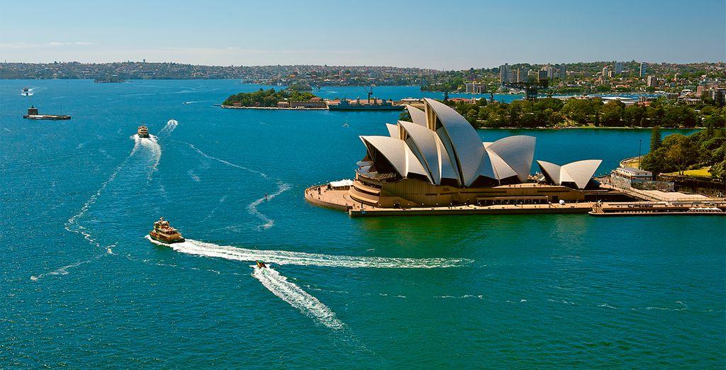 La bahía de Sydney y la emblemática Casa de la Ópera