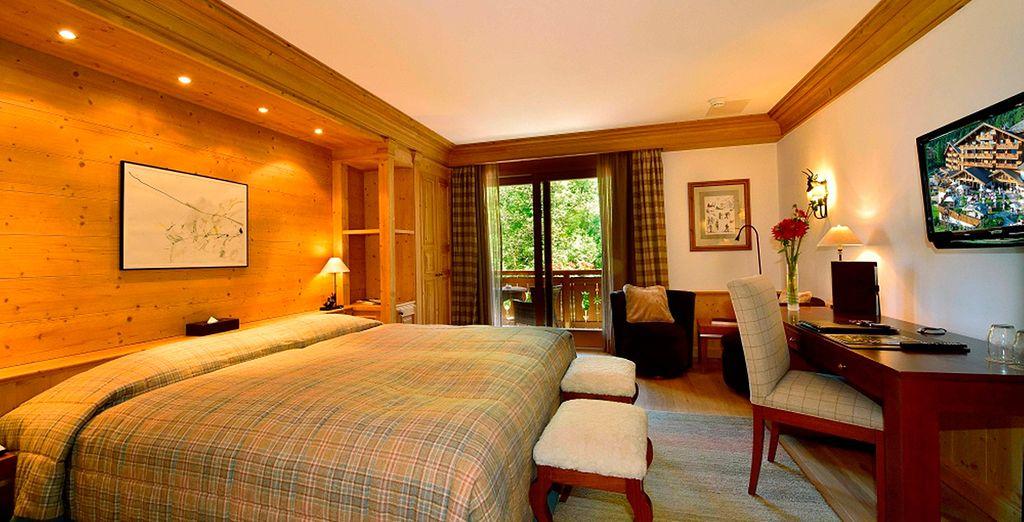 Su habitación Ejecutiva con Vistas a los Alpes...