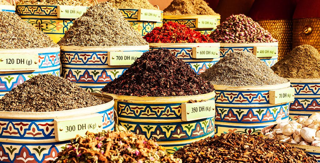Y deja que los olores y sabores de Marruecos te atrapen