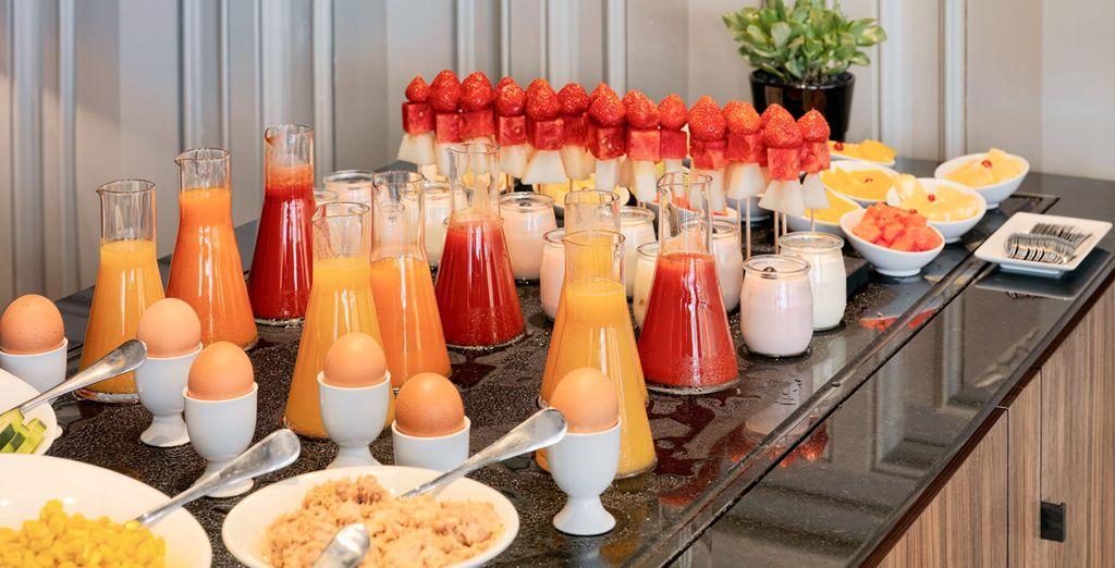 Un delicioso desayuno te espera cada mañana