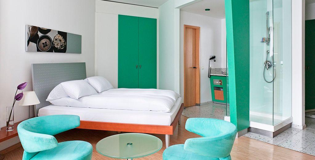 Descanse en su Habitación Moderna Premium