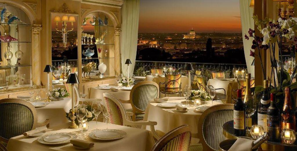 Un restaurante de lujo y de máxima elegancia