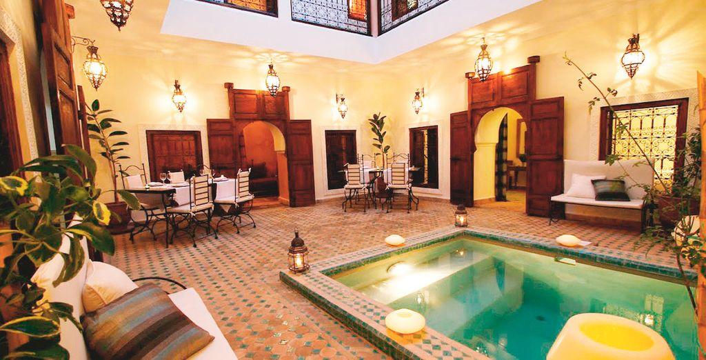 Patios con encanto y acogedores como el del Riad Dar Elma And Spa
