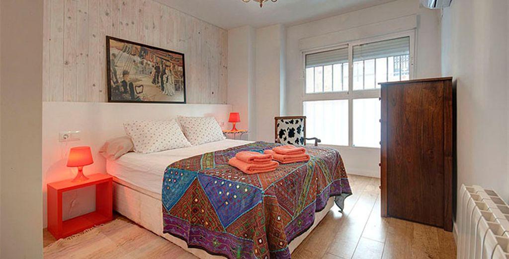 Apartamento 4: una de los dormitorios