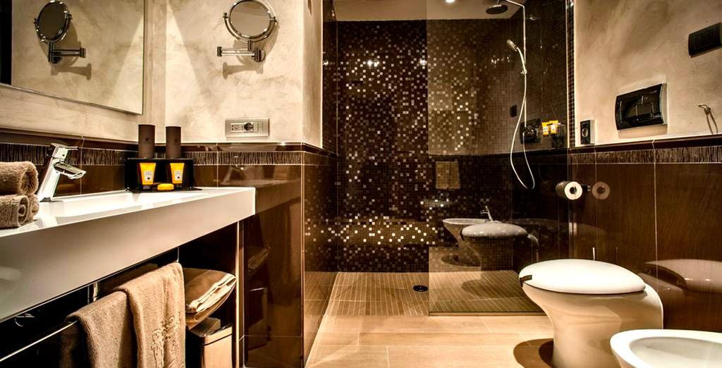 ...con baño privado completamente equipado