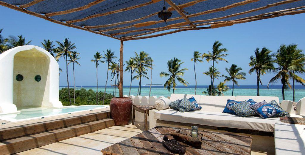 Verá el mar desde cualquier punto del hotel