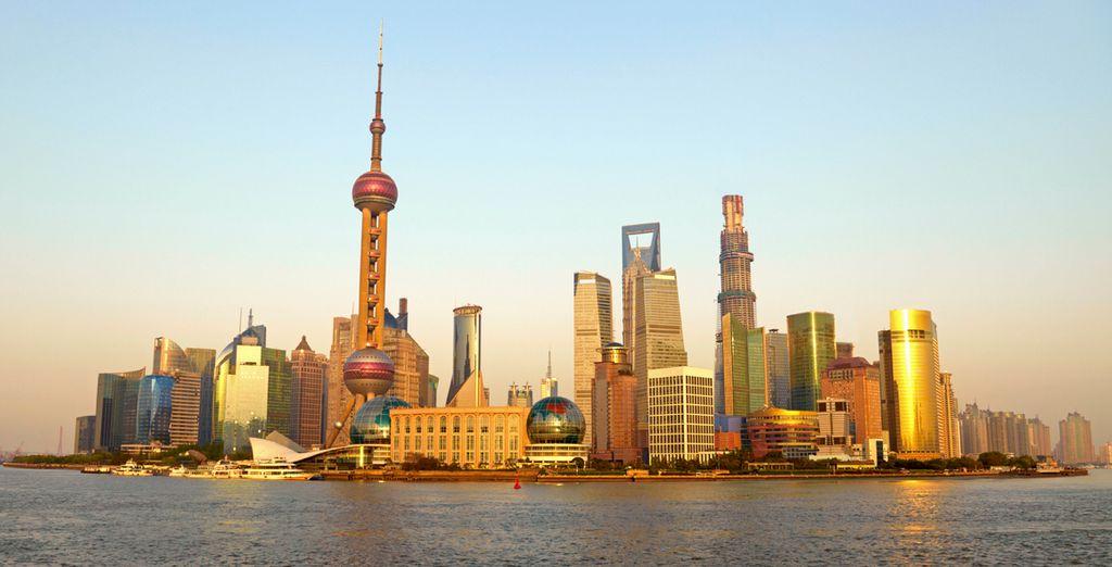 El espectacular skyline de Shangai
