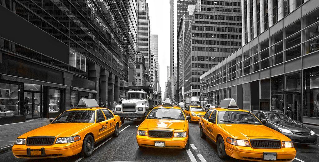 Los emblemáticos taxis amarillos