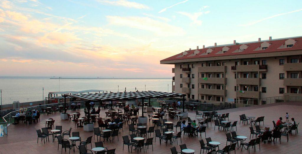 Vistas impresionantes desde el hotel, en la zona de la terraza