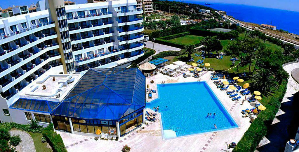 Un hotel con fantásticas vistas sobre el mar