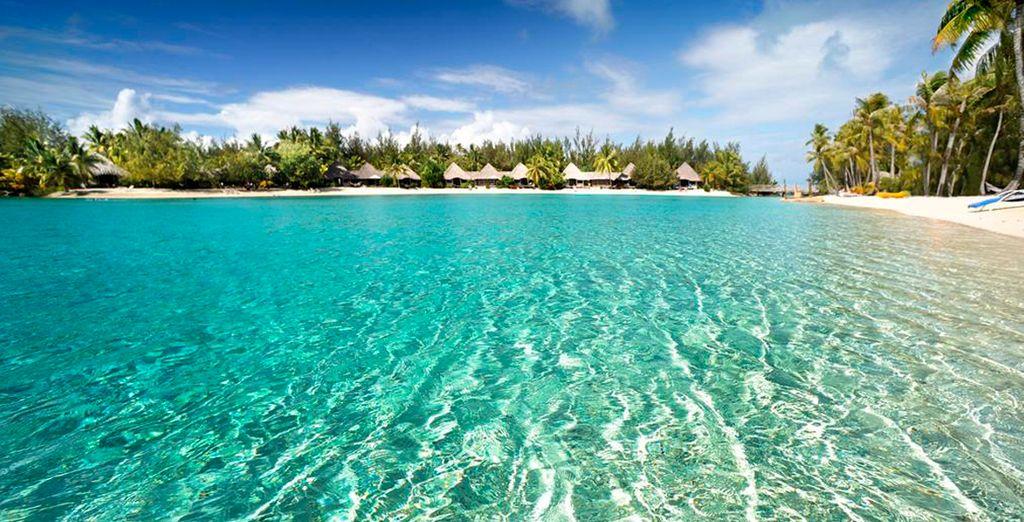 Mil tonalidades de azul en Bora Bora