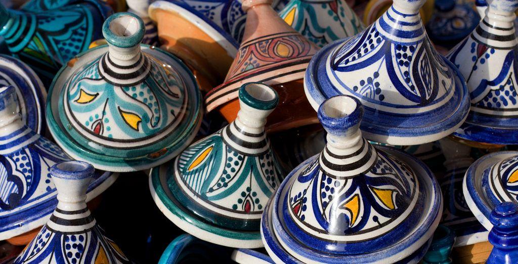 Piérdase por el bazar en Marrakech