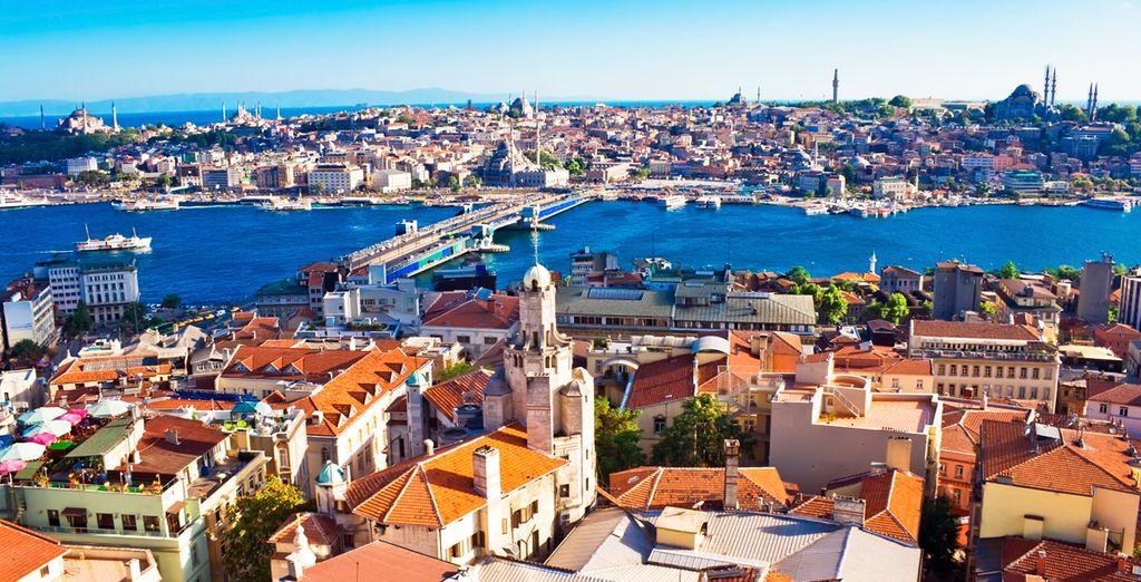 Vista aérea de la ciudad de Estambul