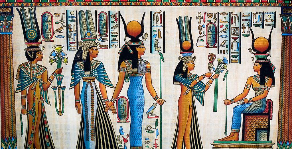 Los papiros, típicos de esta cultura