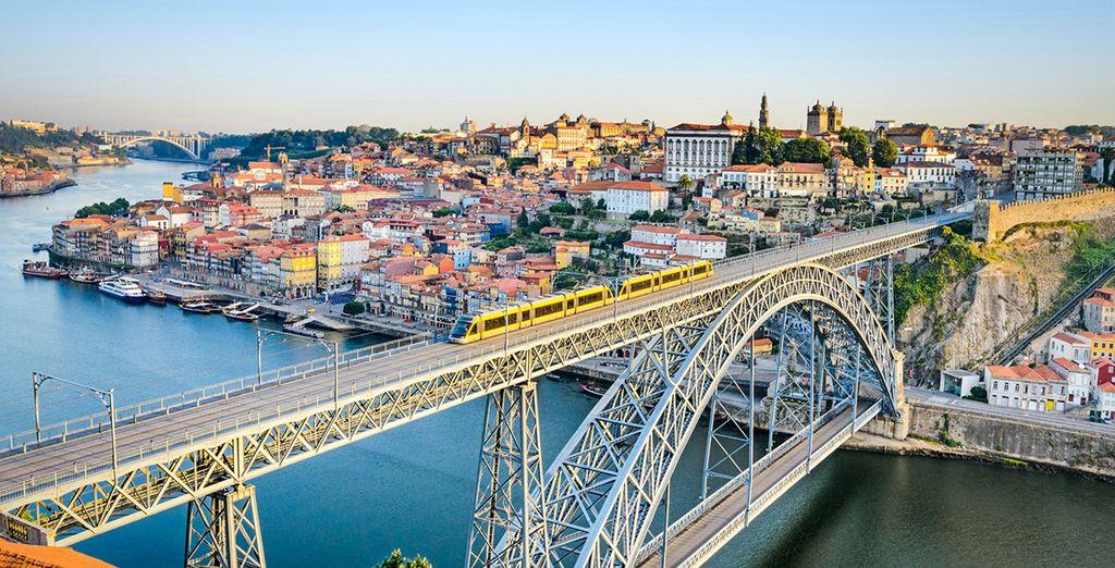 El río Duero a su paso por Porto