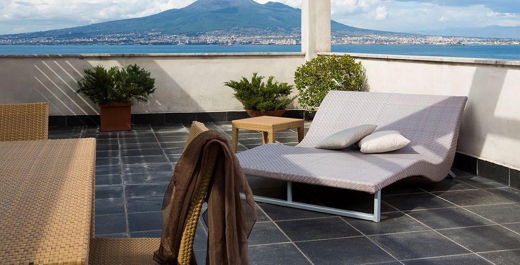 Disfrute del buen clima en la terraza