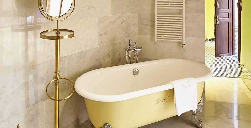 Detalle del baño de la Junior Suite