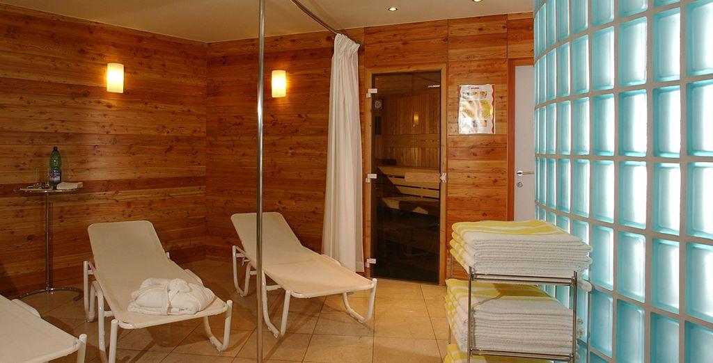 Relájese en su centro de bienestar y sauna