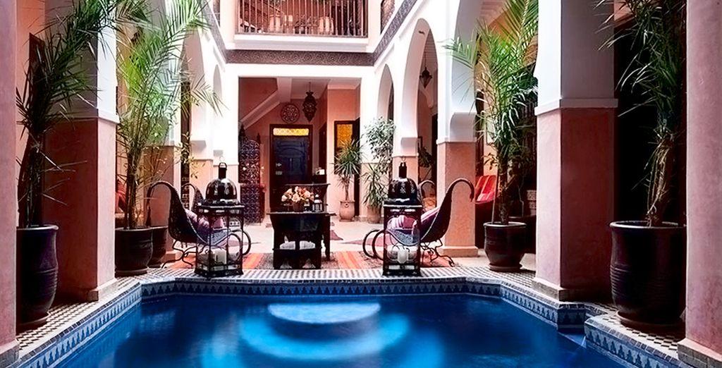 Disfrute su primera estancia en el Riad Rose D'Orient