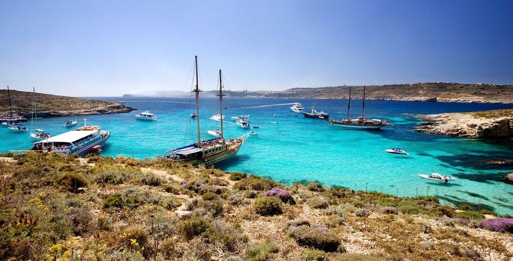 El Mediterráneo ofrece tonos azules de mar indescriptibles