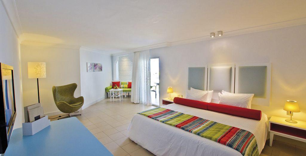 Difrute de su habitación con una decoración muy moderna