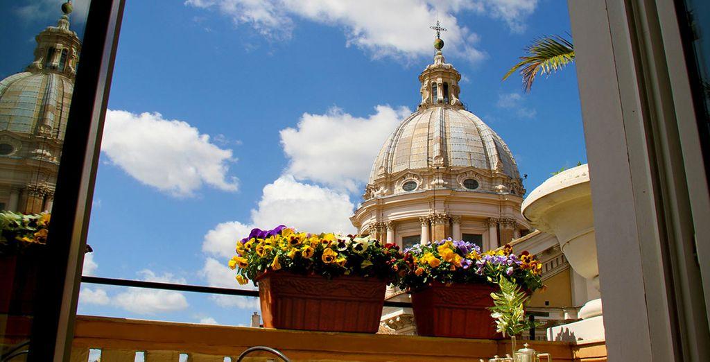 Un hotel con vistas a la ciudad eterna