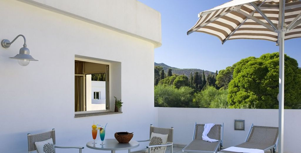 Disfrute de su propia terraza privada