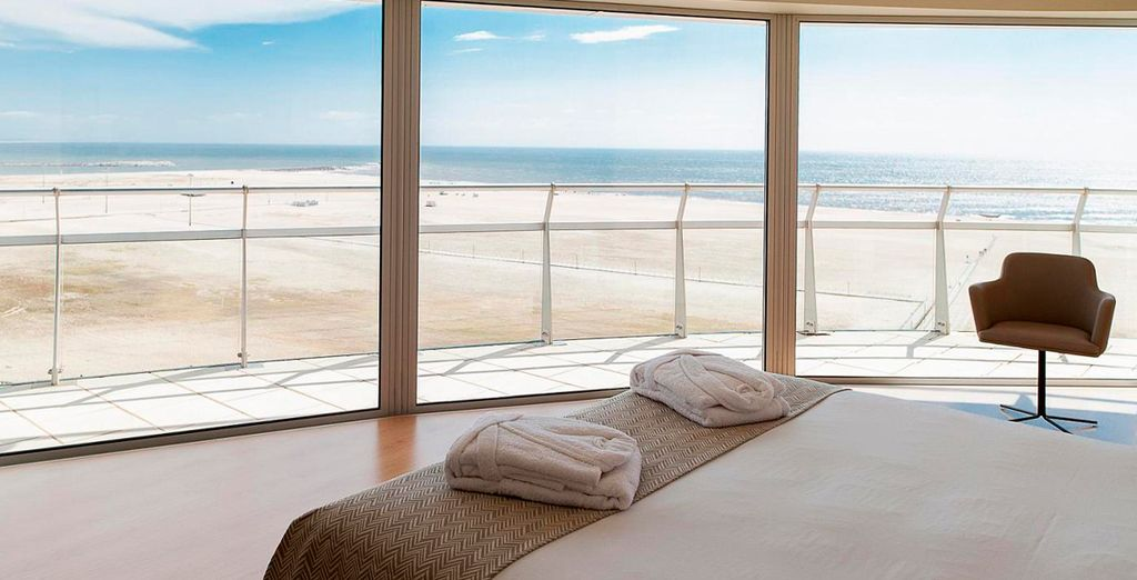 Podrá observar el océano desde la cama