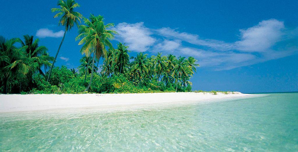 Playas de arena blanca y agua cristalina