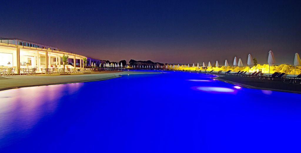 Una inmensa piscina para refrescarse
