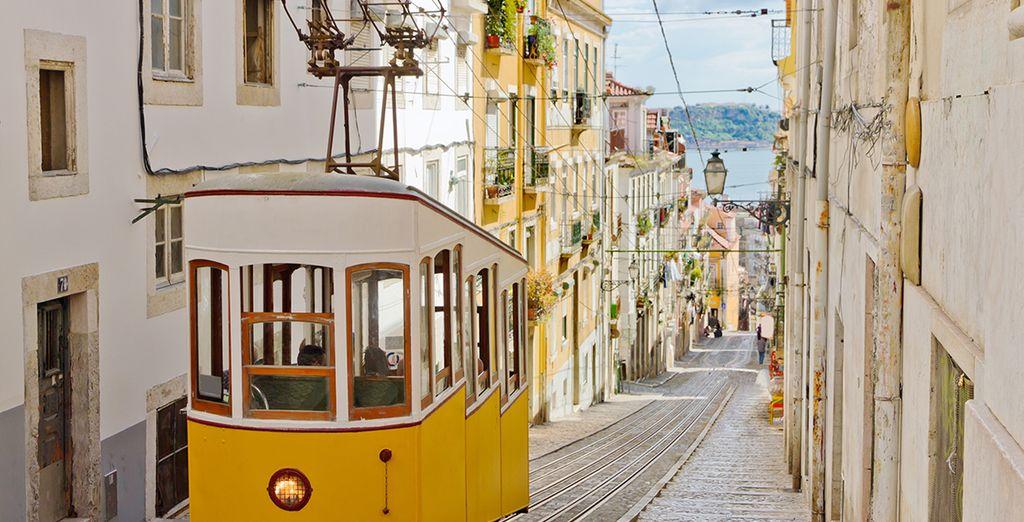 La ciudad de Lisboa a poca distancia