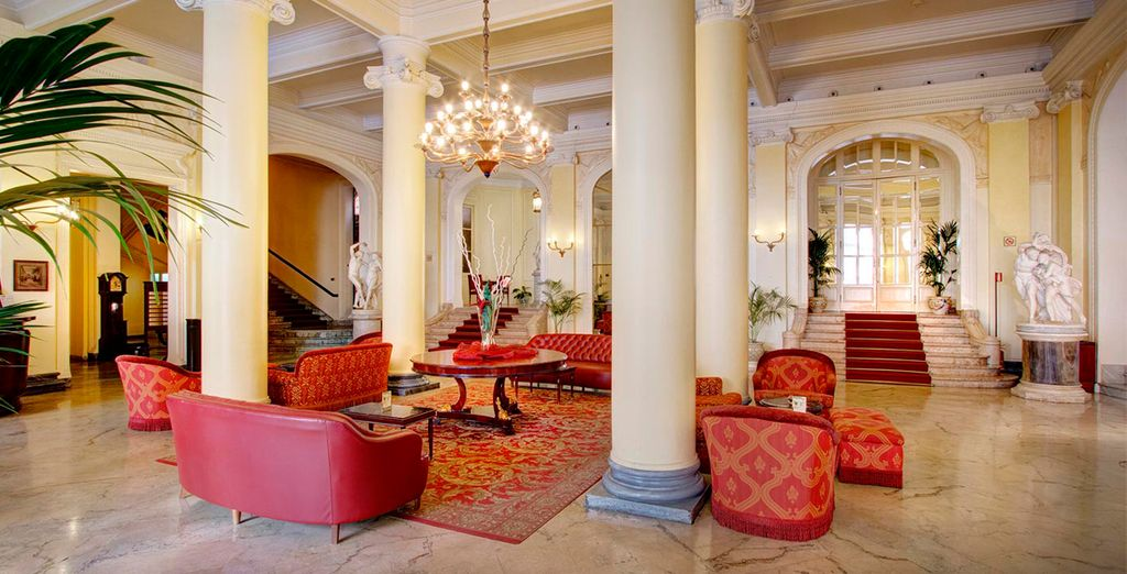 Los salones muestran la categoría del hotel