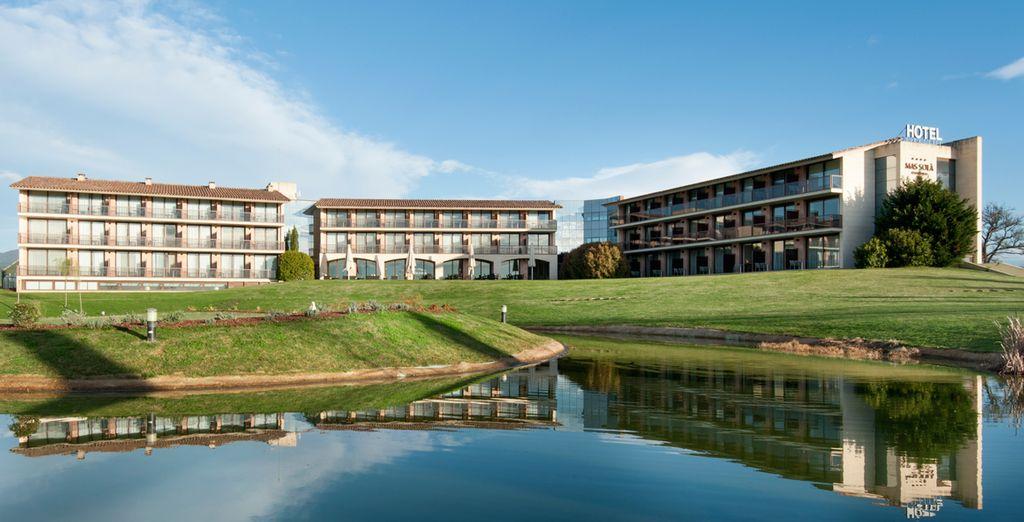 El hotel Mas Solà está situado en Santa Coloma de Farners