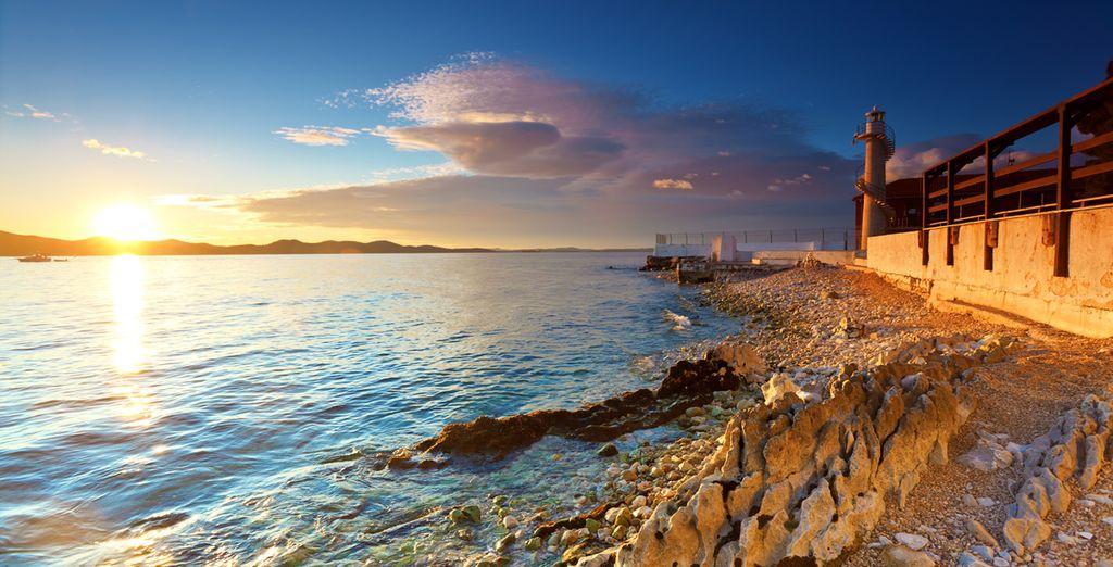 Zadar a orillas de la costa adriática
