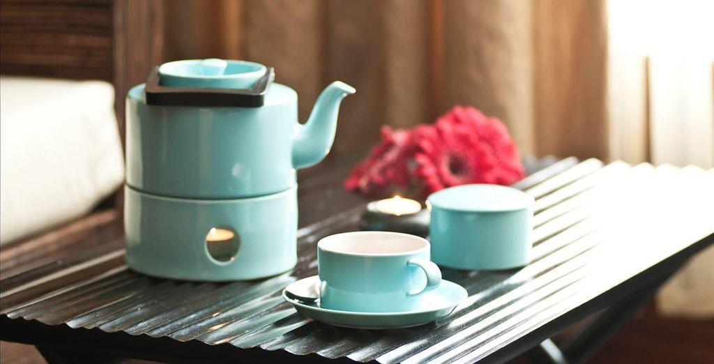 En el Spa del hotel podrá encontrar utensilios para hacerse té