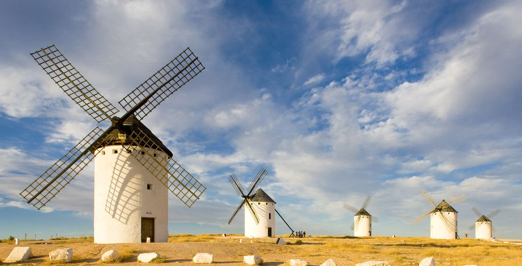Emblemáticos molinos en La Mancha